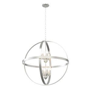 Compass Satin Nickel 12-Light Pendant