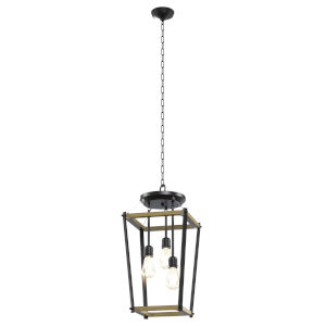 Lombard Street Graphite Three-Light Pendant