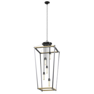 Lombard Street Graphite Five-Light Pendant