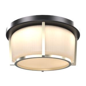 Jarvis Black and Soft Gold ADA LED Flushmount