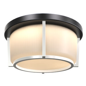 Jarvis Black and Satin Nickel 10-Inch ADA LED Flushmount