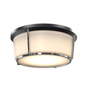 Jarvis Black and Chrome ADA LED Flushmount