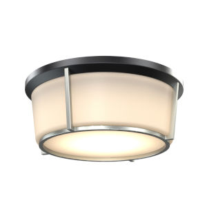 Jarvis Black and Satin Nickel ADA LED Flushmount