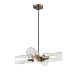 Barker Brass and Graphite Six-Light Mini Pendant