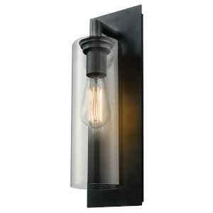 Barker Black One-Light Outdoor Wall Mount