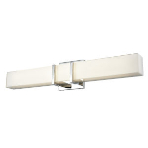 Secord Chrome and Stainless Steel 24-Inch ADA LED Bath Vanity