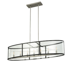 Downtown Brushed Nickel and Graphite Seven-Light Pendant