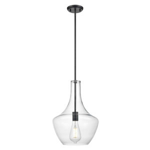 St. Julian Graphite One-Light Pendant with Clear Glass