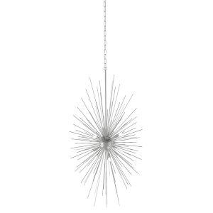 Starburst Stainless Steel Six-Light Pendant