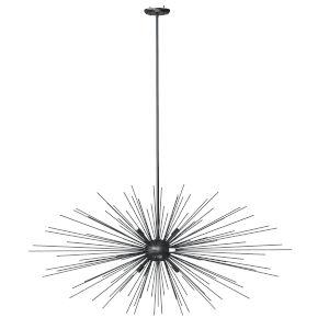 Starburst Graphite Six-Light Pendant