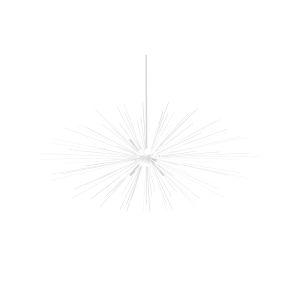 Starburst Matte White Six-Light Pendant