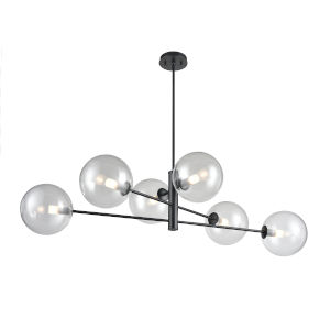 Courcellete Graphite Six-Light Pendant