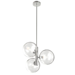 Courcellete Chrome 19-Inch Three-Light Pendant