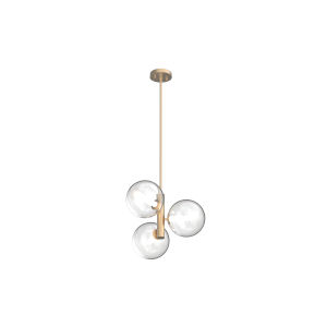 Courcellete Venetian Brass Three-Light Pendant