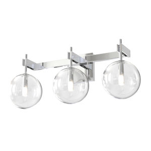 Courcellete Chrome ADA Three-Light Bath Vanity