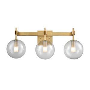 Courcellete Venetian Brass Three-Light Bath Vanity