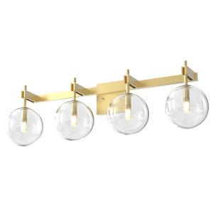 Courcellete Venetian Brass Four-Light Bath Vanity