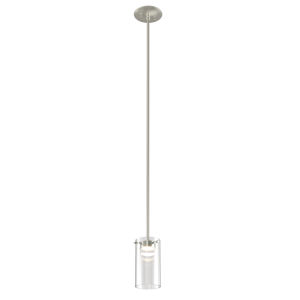 Lucerne Satin Nickel Four-Inch LED Mini Pendant