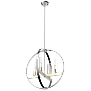 Mont Royal Chrome and Satin Nickel Four-Light Pendant