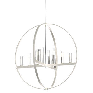 Mont Royal Chrome and Satin Nickel Two-Light Pendant