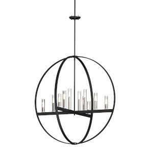 Mont Royal Satin Nickel and Graphite Two-Light Pendant