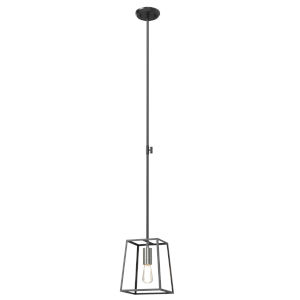 Cape Breton Brushed Nickel and Graphite One-Light Mini Pendant