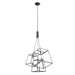 Cape Breton Brushed Nickel and Graphite Three-Light Pendant