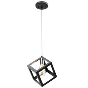 Polygon Chrome and Graphite One-Light Pendant
