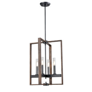 Blairmore Graphite and Ironwood Four-Light Pendant