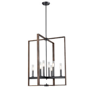 Blairmore Graphite and Ironwood Eight-Light Pendant