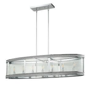Diadem Chrome Seven-Light Pendant