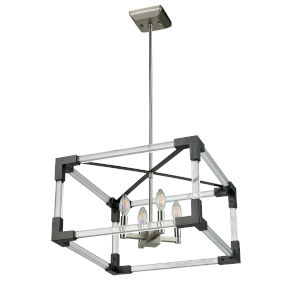 Chateauguay Satin Nickel and Graphite Four-Light Pendant