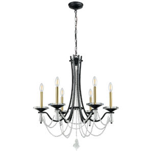 Empress Graphite Six-Light Chandelier
