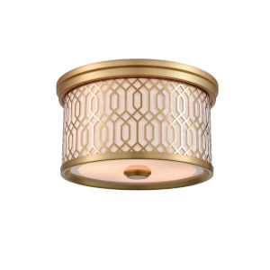 Tortona Venetian Bronze Two-Light Flushmount