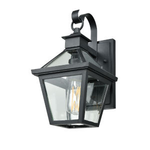 Manor House Black One-Light Outdoor Wall Mount