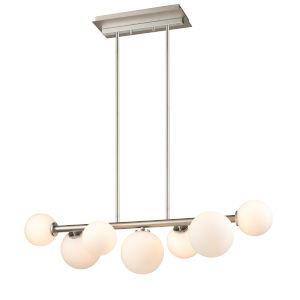 Alouette Chrome and Brushed Nickel Seven-Light Pendant