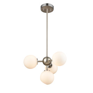 Alouette Chrome and Brushed Nickel Four-Light Pendant