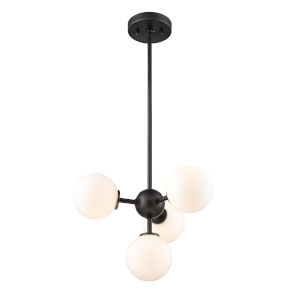 Alouette Graphite Four-Light Pendant