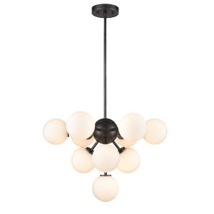 Alouette Graphite Ten-Light Chandelier