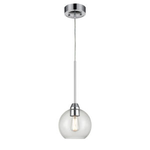 Andromeda Graphite One-Light Mini Pendant with Clear Glass