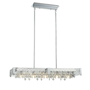 Roxboro Chrome and Crystal 11-Inch Five-Light Pendant