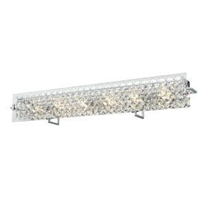 Roxboro Chrome and Crystal ADA Six-Light Bath Vanity