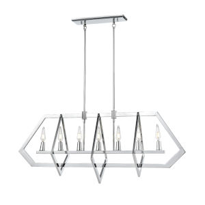 Flechette Chrome Seven-Light Pendant