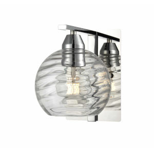 Tropea Chrome One-Light Wall Sconce with Ripple Glass