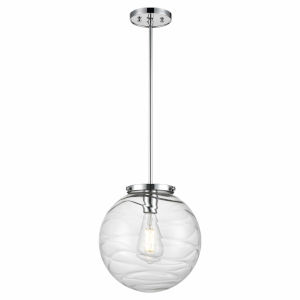 Tropea Chrome One-Light Pendant with Ripple Glass