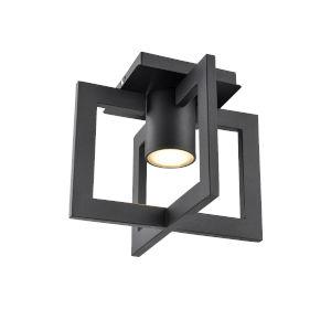 Astrid Black One-Light Flushmount