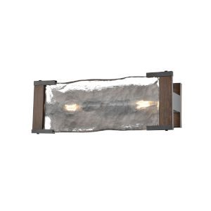 Georgian Bay Graphite and Ironwood Three-Light Bath Vanity