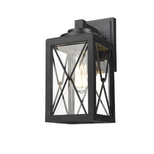 County Fair Black One-Light Outdoor Wall Mount