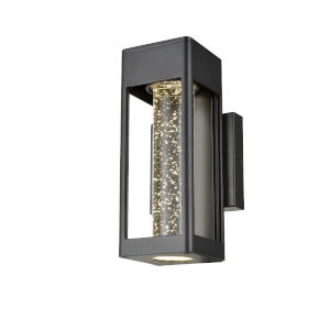 Geyser Black Five-Inch LED Outdoor Wall Mount