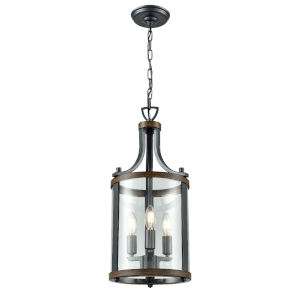 Niagara Graphite and Ironwood Three-Light Pendant